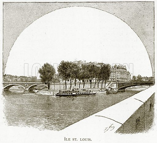 Ile St. Louis. Illustration from Old and New Paris by H Sutherland Edwards (Cassell, 1893).