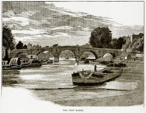The Pont Marie. Illustration from Old and New Paris by H Sutherland Edwards (Cassell, 1893).
