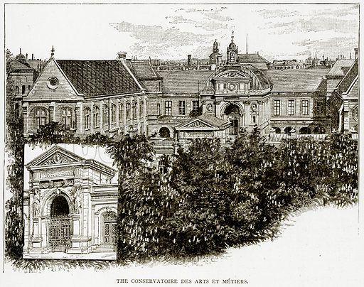 The Conservatoire des Arts Et Metiers. Illustration from Old and New Paris by H Sutherland Edwards (Cassell, 1893).