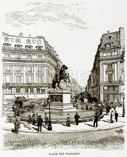 Place des Victories. Illustration from Old and New Paris by H Sutherland Edwards (Cassell, 1893).