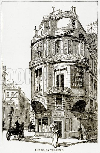Rue de la Vrilliere. Illustration from Old and New Paris by H Sutherland Edwards (Cassell, 1893).