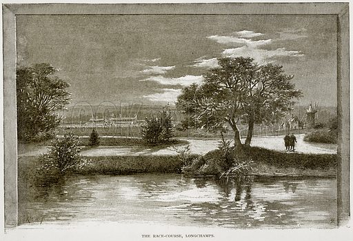 The Race-Course, Longchamps. Illustration from Old and New Paris by H Sutherland Edwards (Cassell, 1893).