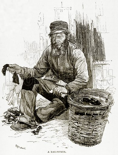 A Rag-Picker. Illustration from Old and New Paris by H Sutherland Edwards (Cassell, 1893).