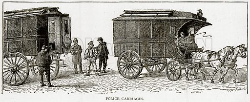 Police Carriages. Illustration from Old and New Paris by H Sutherland Edwards (Cassell, 1893).