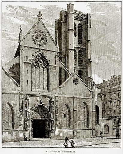 St. Nicholas-in-the-fields. Illustration from Old and New Paris by H Sutherland Edwards (Cassell, 1893).