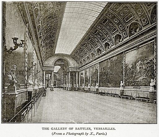 The Gallery of Battles, Versailles. Illustration from Old and New Paris by H Sutherland Edwards (Cassell, 1893).