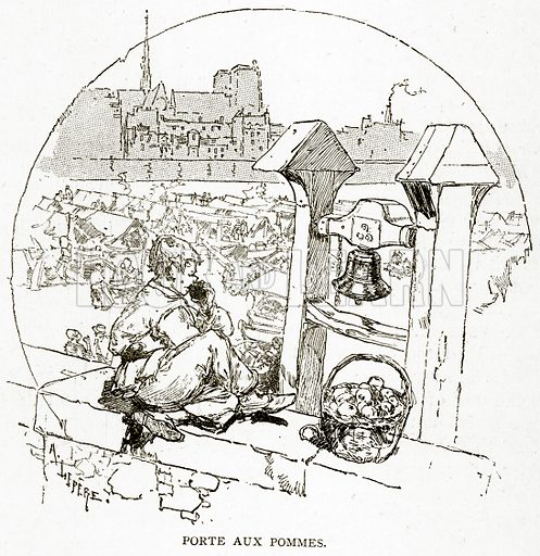 Porte Aux Pommes. Illustration from Old and New Paris by H Sutherland Edwards (Cassell, 1893).