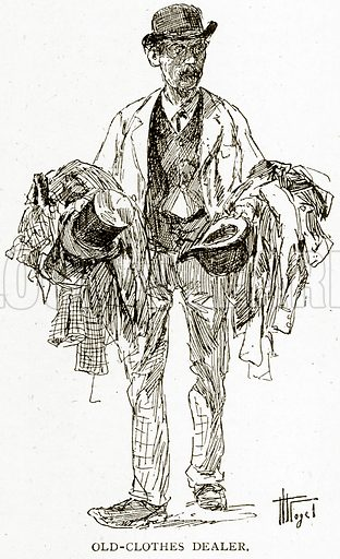 Old-Clothes Dealer. Illustration from Old and New Paris by H Sutherland Edwards (Cassell, 1893).
