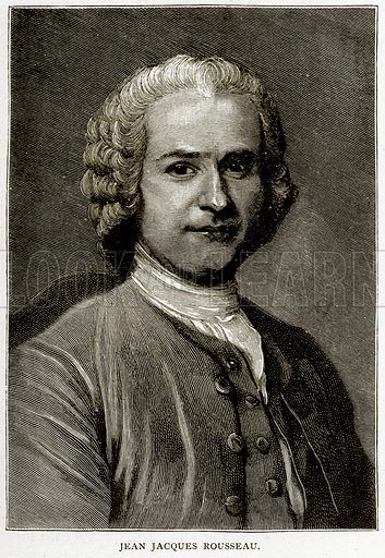 Jean Jacques Rousseau. Illustration from Old and New Paris by H Sutherland Edwards (Cassell, 1893).