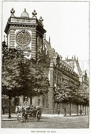 The Ministry of War. Illustration from Old and New Paris by H Sutherland Edwards (Cassell, 1893).