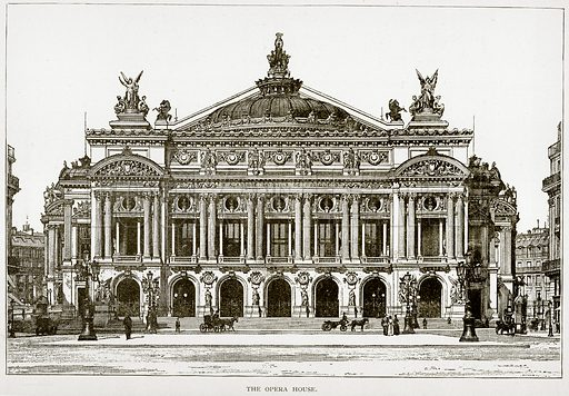 The Opera House. Illustration from Old and New Paris by H Sutherland Edwards (Cassell, 1893).