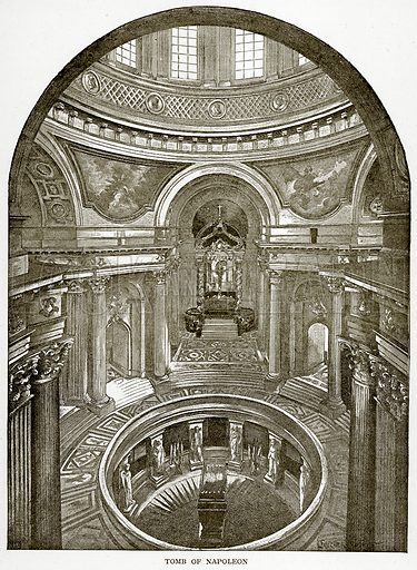 Tomb of Napoleon. Illustration from Old and New Paris by H Sutherland Edwards (Cassell, 1893).