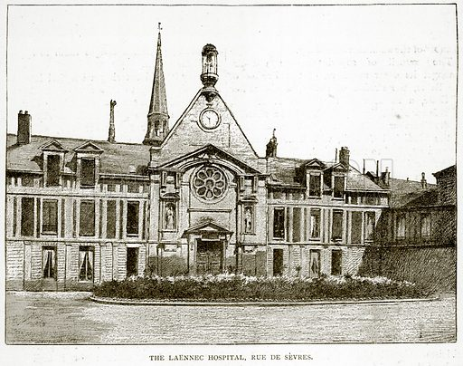 The Laennec Hospital, Rue de Sevres. Illustration from Old and New Paris by H Sutherland Edwards (Cassell, 1893).