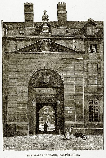 The Mazarin Ward, Salpetriere. Illustration from Old and New Paris by H Sutherland Edwards (Cassell, 1893).