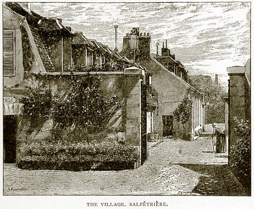 The Village, Salpetriere. Illustration from Old and New Paris by H Sutherland Edwards (Cassell, 1893).
