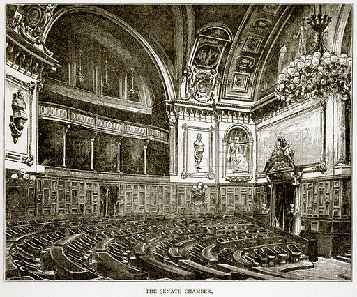 The Senate Chamber. Illustration from Old and New Paris by H Sutherland Edwards (Cassell, 1893).