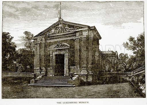 The Luxemburg Museum. Illustration from Old and New Paris by H Sutherland Edwards (Cassell, 1893).
