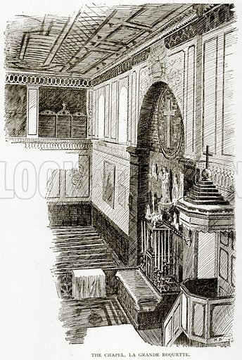 The Chapel, La Grande Roquette. Illustration from Old and New Paris by H Sutherland Edwards (Cassell, 1893).