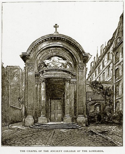 The Chapel of the Ancient College of the Lombards. Illustration from Old and New Paris by H Sutherland Edwards (Cassell, 1893).