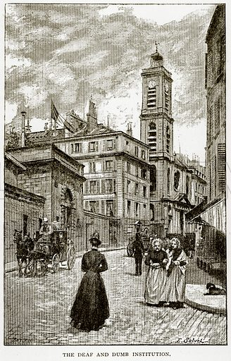 The Deaf and Dumb Institution. Illustration from Old and New Paris by H Sutherland Edwards (Cassell, 1893).