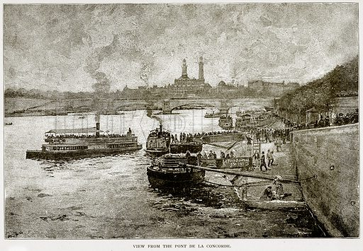 View from the Pont de la Concorde. Illustration from Old and New Paris by H Sutherland Edwards (Cassell, 1893).