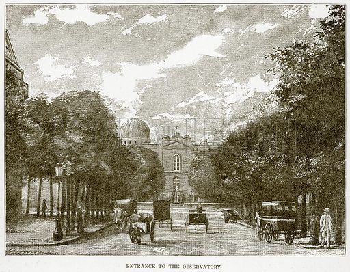Entrance to the Observatory. Illustration from Old and New Paris by H Sutherland Edwards (Cassell, 1893).