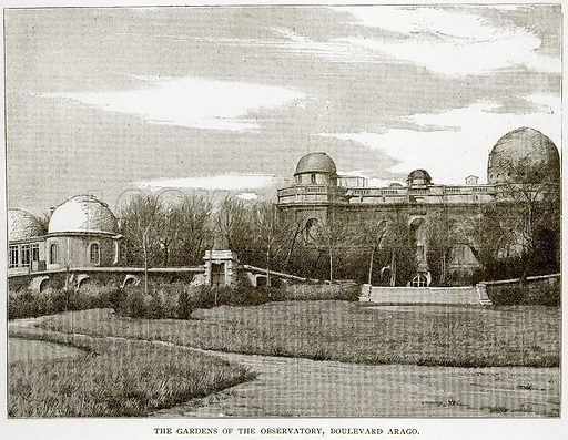 The Gardens of the Observatory, Boulevard Arago. Illustration from Old and New Paris by H Sutherland Edwards (Cassell, 1893).