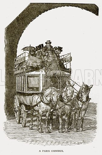 A Paris Omnibus. Illustration from Old and New Paris by H Sutherland Edwards (Cassell, 1893).