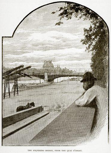 The Solferino Bridge, from the Quai D