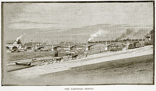 The National Bridge. Illustration from Old and New Paris by H Sutherland Edwards (Cassell, 1893).