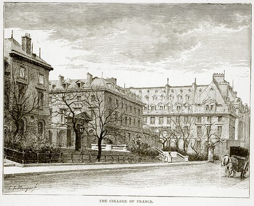 The College of France. Illustration from Old and New Paris by H Sutherland Edwards (Cassell, 1893).