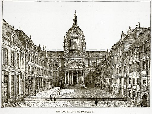 The Court of the Sorbonne. Illustration from Old and New Paris by H Sutherland Edwards (Cassell, 1893).