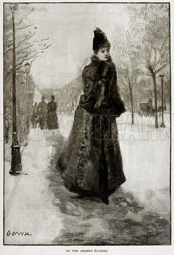 On the Champs Elysees. Illustration from Old and New Paris by H Sutherland Edwards (Cassell, 1893).