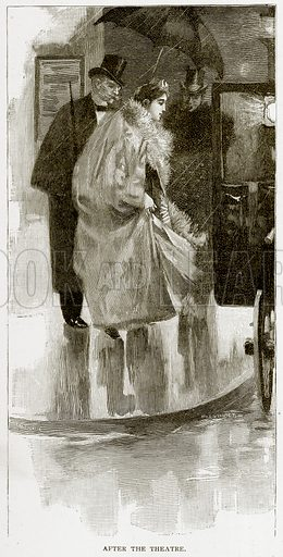 After the Theatre. Illustration from Old and New Paris by H Sutherland Edwards (Cassell, 1893).