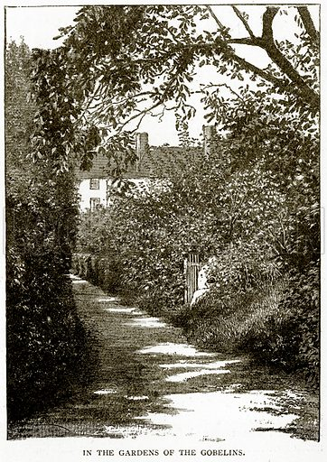 In the Gardens of the Gobelins. Illustration from Old and New Paris by H Sutherland Edwards (Cassell, 1893).