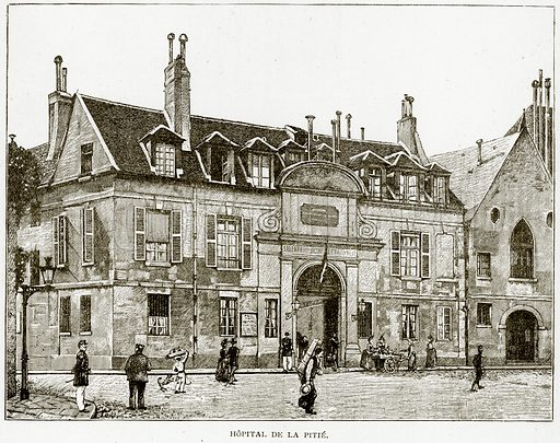 Hopital de la Pitie. Illustration from Old and New Paris by H Sutherland Edwards (Cassell, 1893).