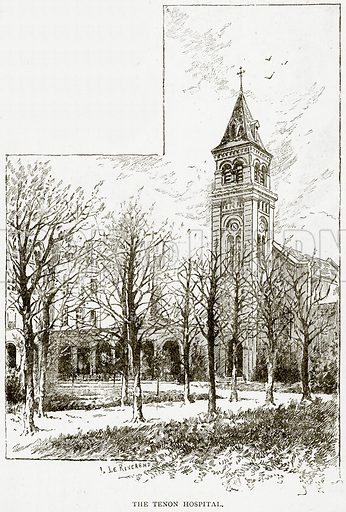 The Tenon Hospital. Illustration from Old and New Paris by H Sutherland Edwards (Cassell, 1893).