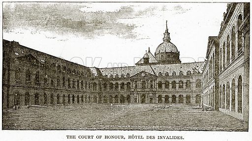The Court of Honour, Hotel des Invalides. Illustration from Old and New Paris by H Sutherland Edwards (Cassell, 1893).