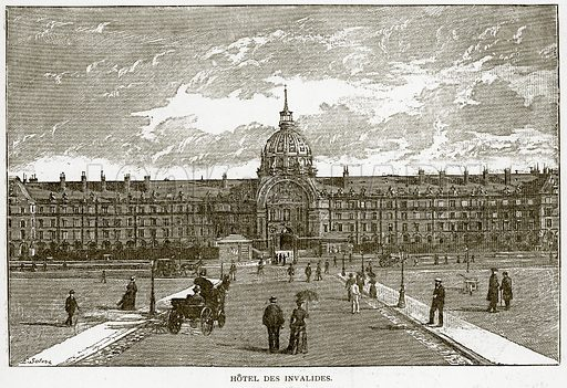 Hotel des Invalides. Illustration from Old and New Paris by H Sutherland Edwards (Cassell, 1893).