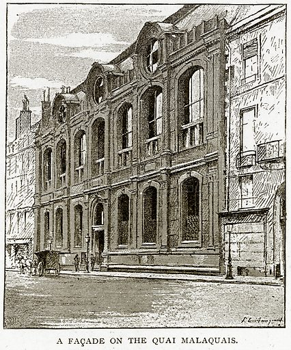 A Facade on the Quai Malaquais. Illustration from Old and New Paris by H Sutherland Edwards (Cassell, 1893).