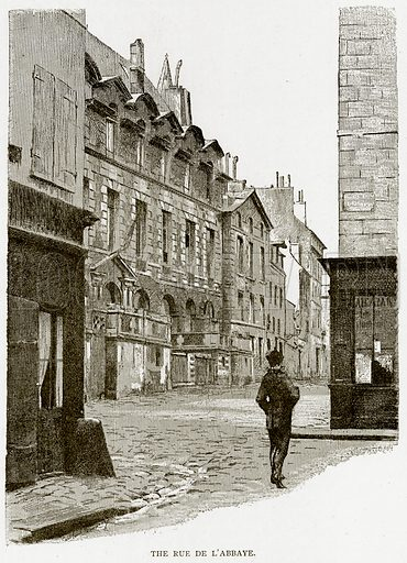 The Rue de L'Abbaye. Illustration from Old and New Paris by H Sutherland Edwards (Cassell, 1893).
