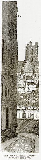 Rue des Chantres, looking towards the Quai. Illustration from Old and New Paris by H Sutherland Edwards (Cassell, 1893).