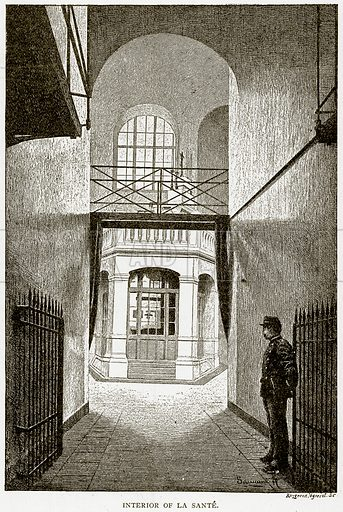 Interior of La Sante. Illustration from Old and New Paris by H Sutherland Edwards (Cassell, 1893).