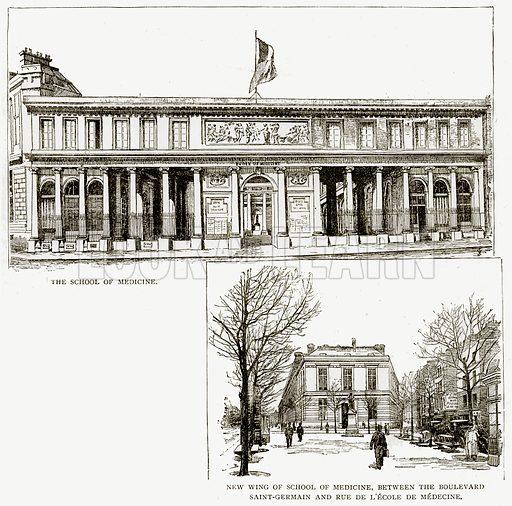 The School of Medicine. New wing of School of Medicine, between the Boulevard Saint-Germain and Rue de L
