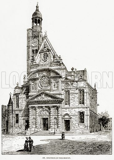St. Stephen-of-the-Mount. Illustration from Old and New Paris by H Sutherland Edwards (Cassell, 1893).