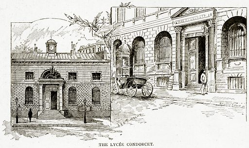 The Lycee Condorcet. Illustration from Old and New Paris by H Sutherland Edwards (Cassell, 1893).