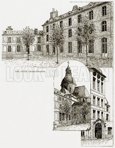 The Lycee Charlemagne. Illustration from Old and New Paris by H Sutherland Edwards (Cassell, 1893).