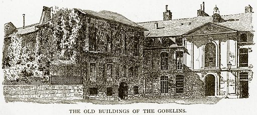 The Old Buildings of the Gobelins. Illustration from Old and New Paris by H Sutherland Edwards (Cassell, 1893).