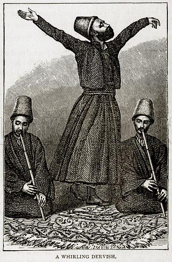 A Whirling Dervish. Illustration from Error