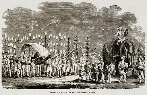 Mohammedan Feast of Mohurrim. Illustration from Error